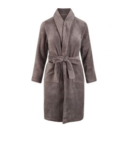 Kinderbadjas taupe fleece
