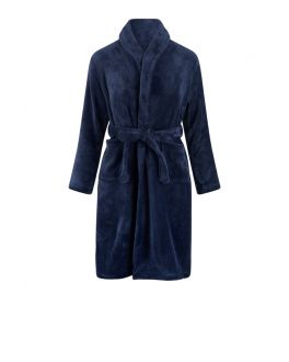 Kinderbadjas marineblauw fleece
