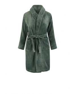 kinderbadjas groen fleece