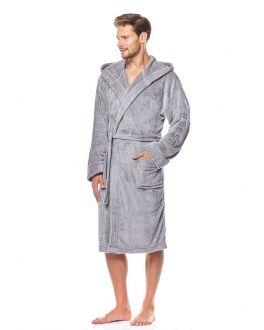 #Best badjas fleece lichtgrijs