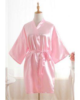 Kimono licht roze – satijnen look