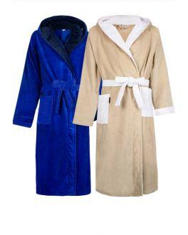 Badjassen met kleur accenten