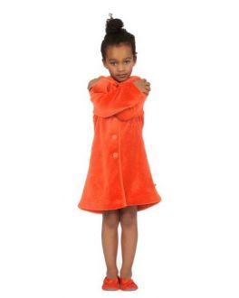 Meisjesbadjas Woody oranje