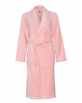 Fleece damesbadjas oud roze