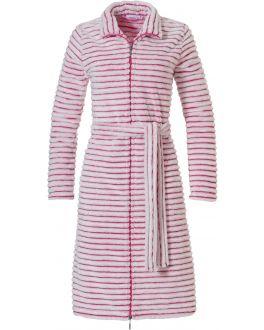 Pastunette rits badjas - roze streepmotief