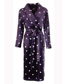 paarse badjas met stippen van fleece