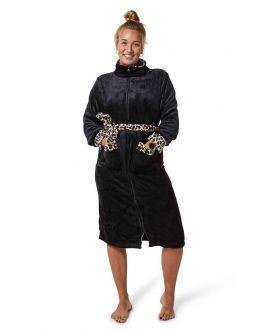 Badjas zwart met ritssluiting