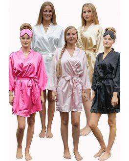 Kimono satijnen look – 5 kleuren
