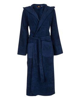 Capuchon badjas donkerblauw