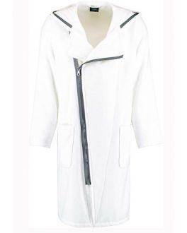 witte heren badjas met rits