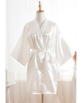 Kimono wit – satijnen look