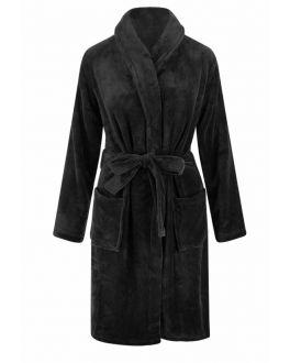 fleece badjas marineblauw