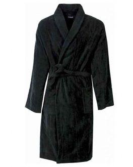 Basic fleece badjas zwart