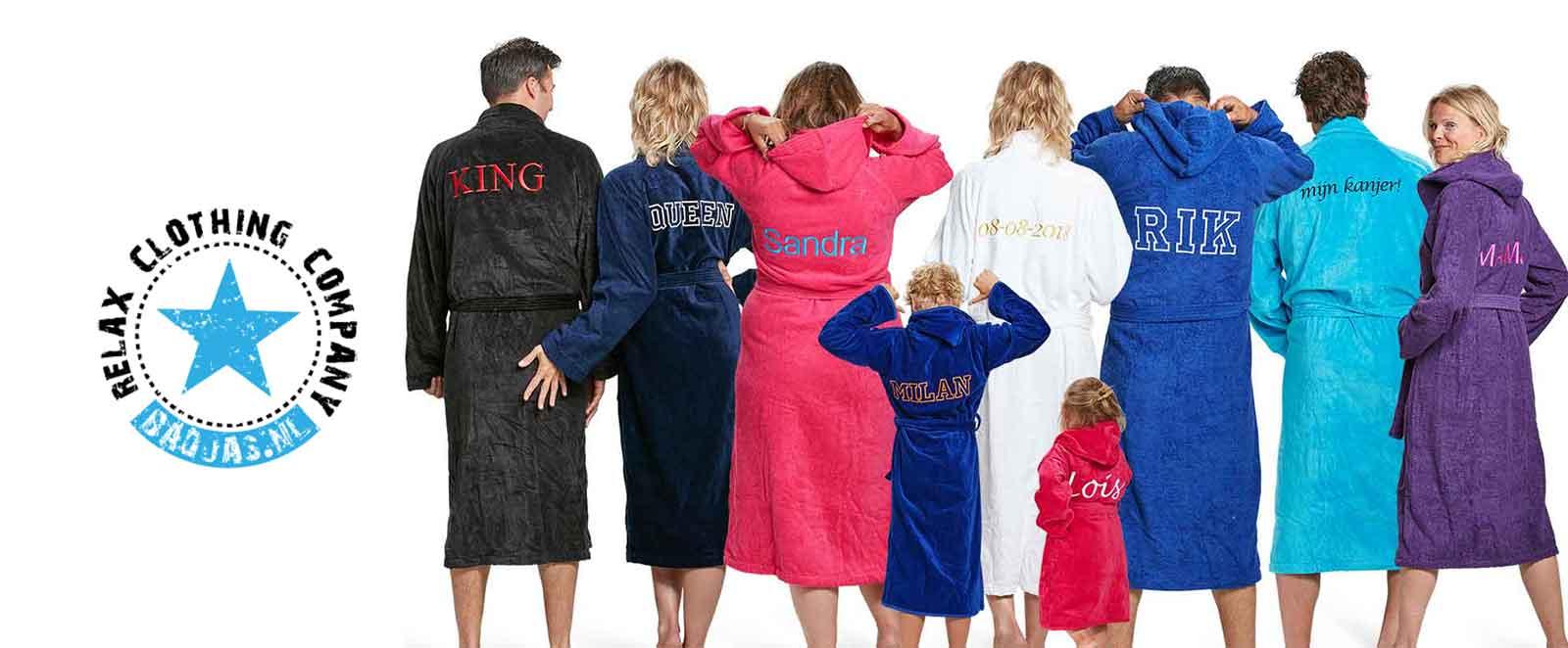 badjas met naam borduren