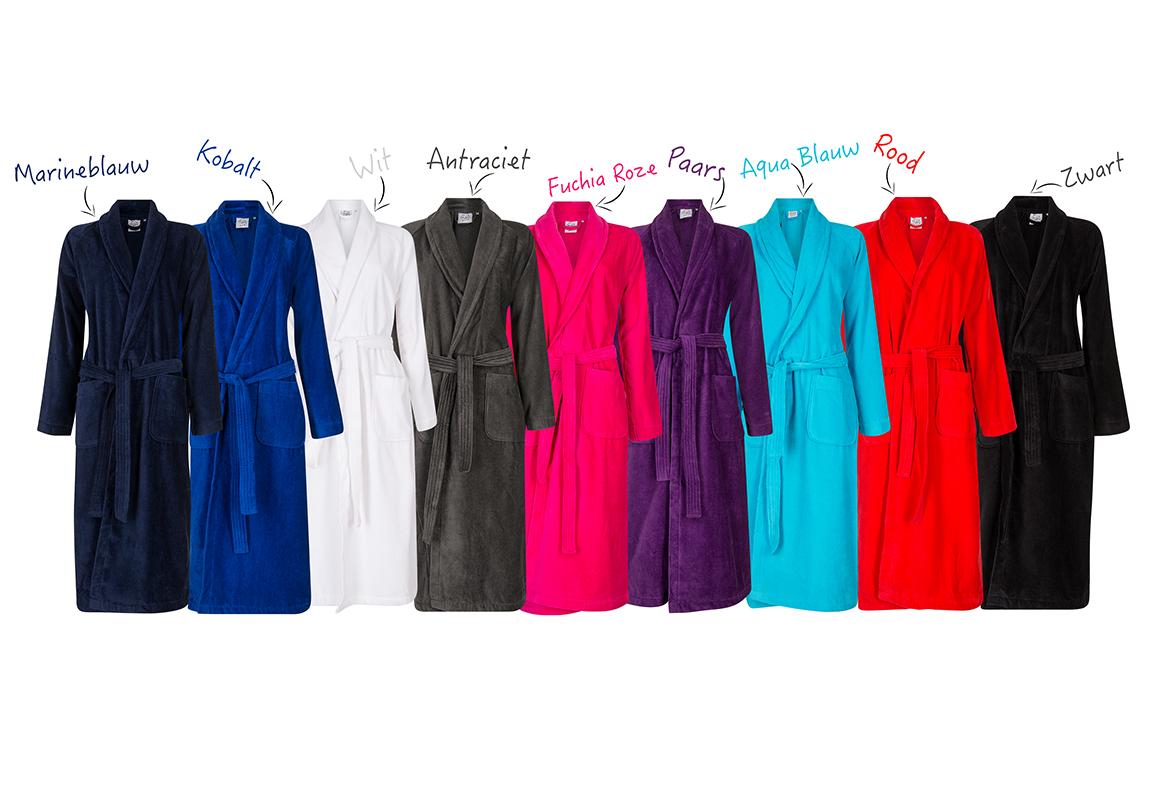 badjas met bedrukking